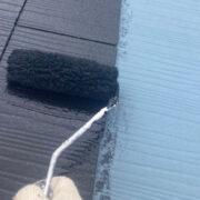 福岡市 屋根の中塗り・上塗りと付帯塗装①