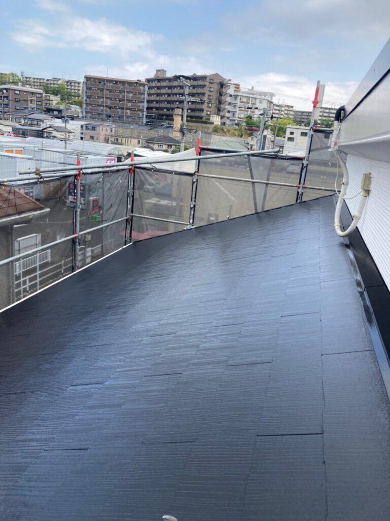 福岡市 屋根の中塗り・上塗りと付帯塗装① 写真6