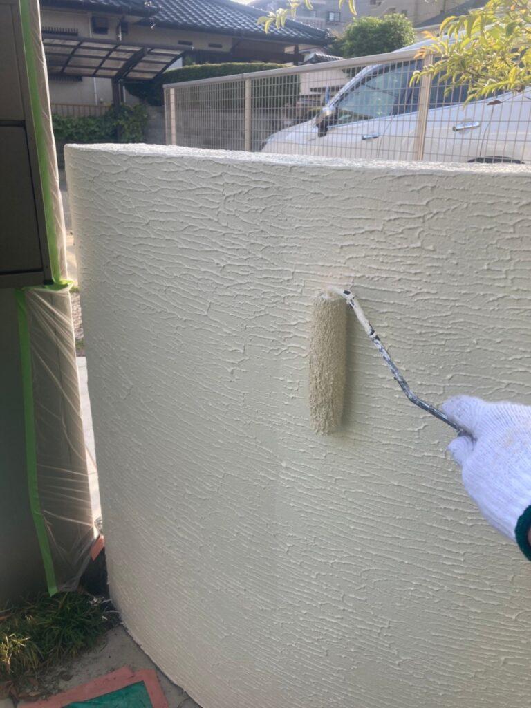 福岡市 腰壁上塗りと各所タッチアップなど 写真1