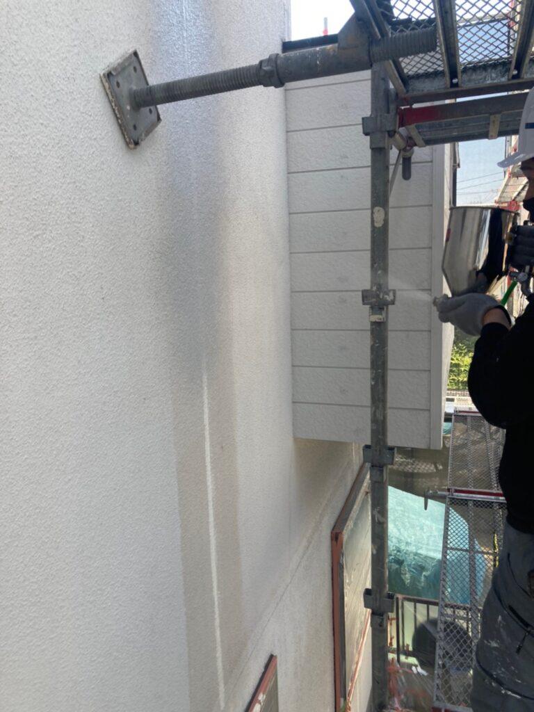 福岡市 外壁一部肌合わせと軒天塗装 写真11