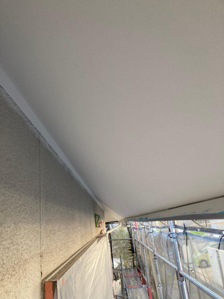 福岡市 外壁一部肌合わせと軒天塗装 写真17