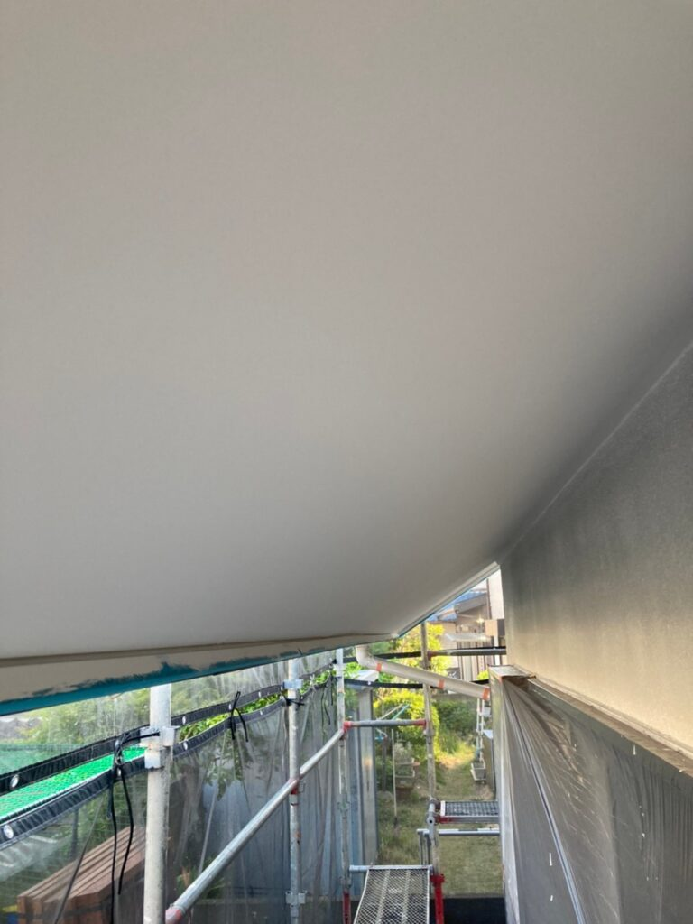 福岡市 外壁一部肌合わせと軒天塗装 写真18