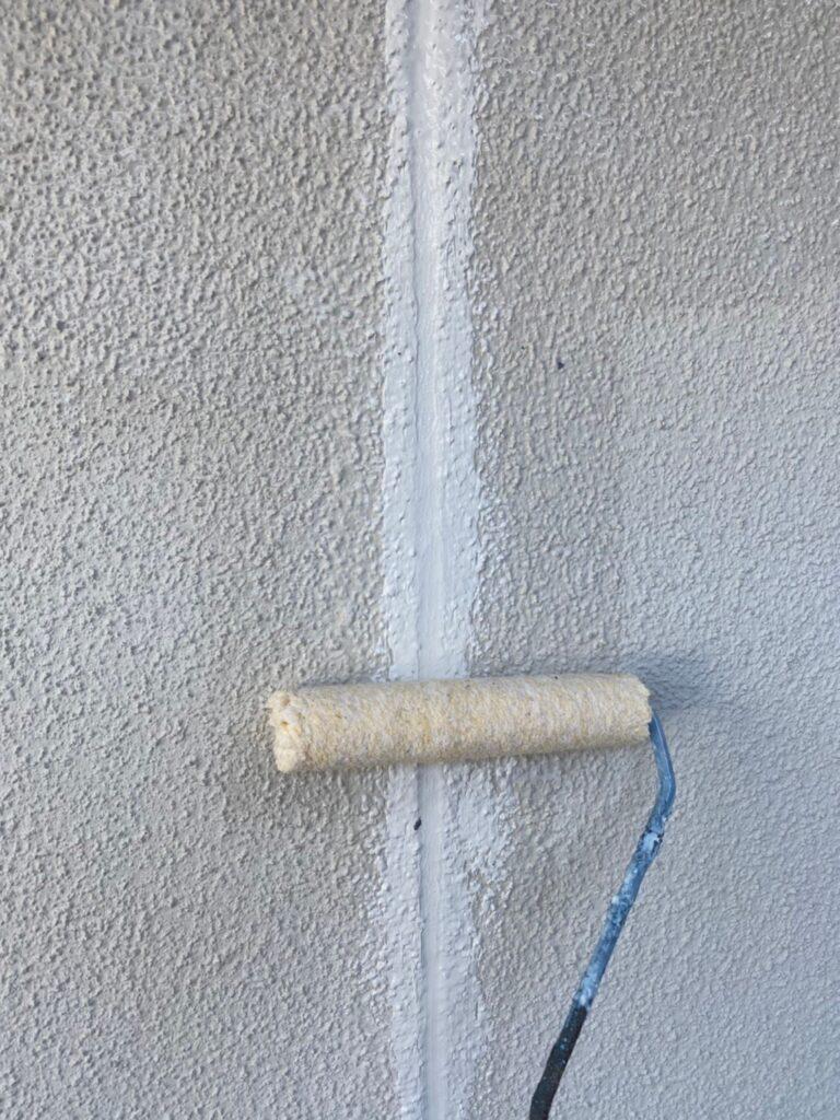 福岡市 外壁一部肌合わせと軒天塗装 写真2