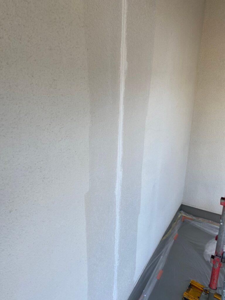 福岡市 外壁一部肌合わせと軒天塗装 写真3