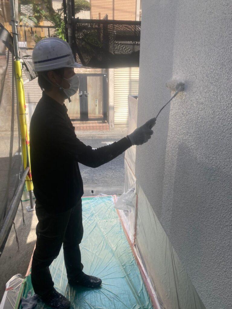 福岡市 外壁塗装 中塗り 上塗り 写真4