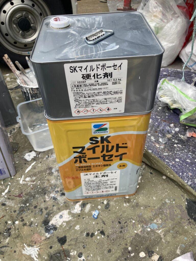 マイルドボーセイ:福岡市 付帯塗装 基礎巾木塗装 写真1
