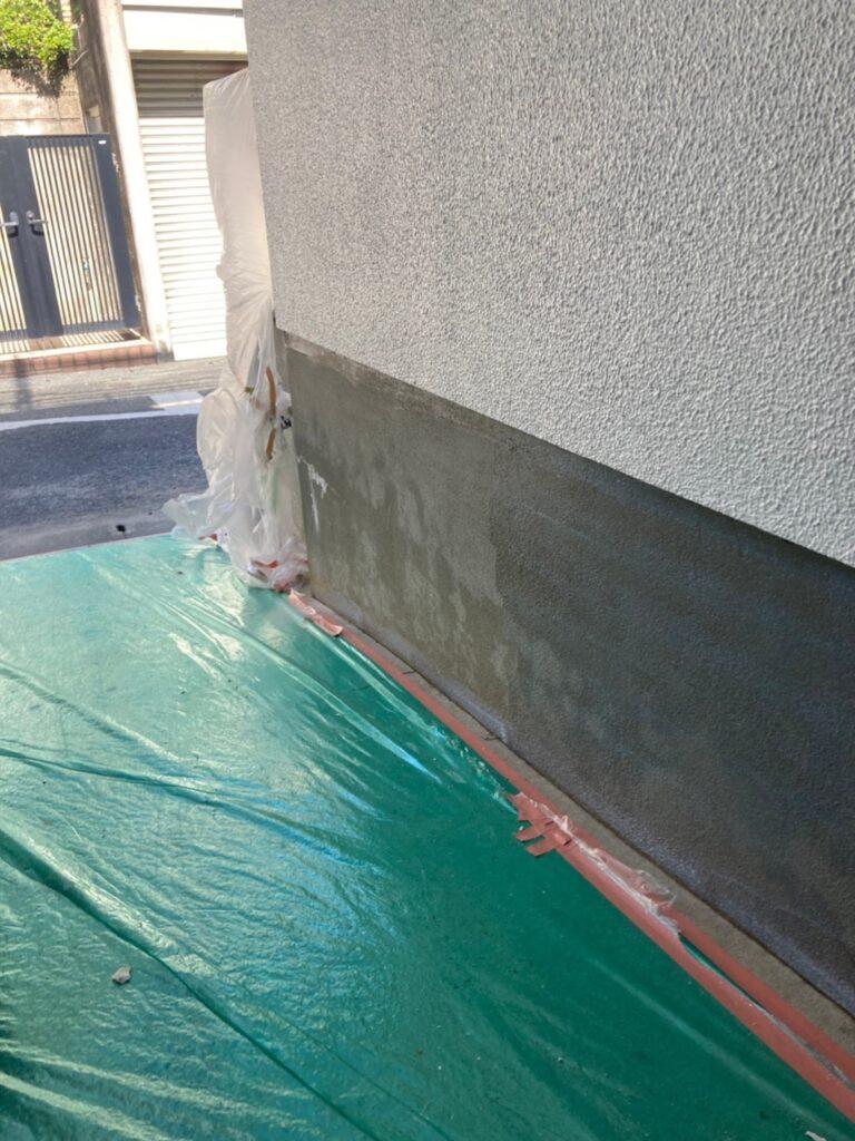 福岡市 付帯塗装 基礎巾木塗装 写真16