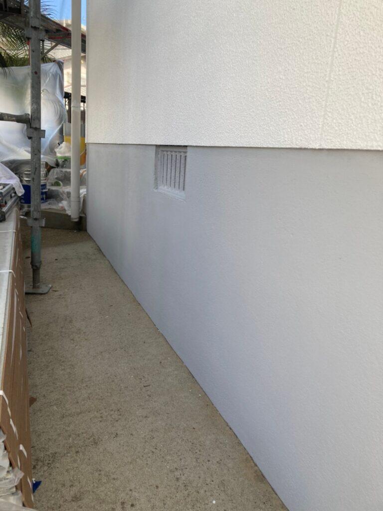 福岡市 付帯塗装 基礎巾木塗装 写真19