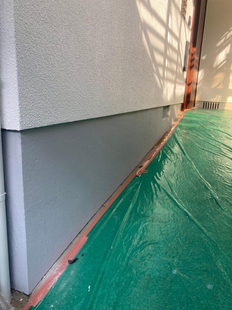福岡市 付帯塗装 基礎巾木塗装 写真21
