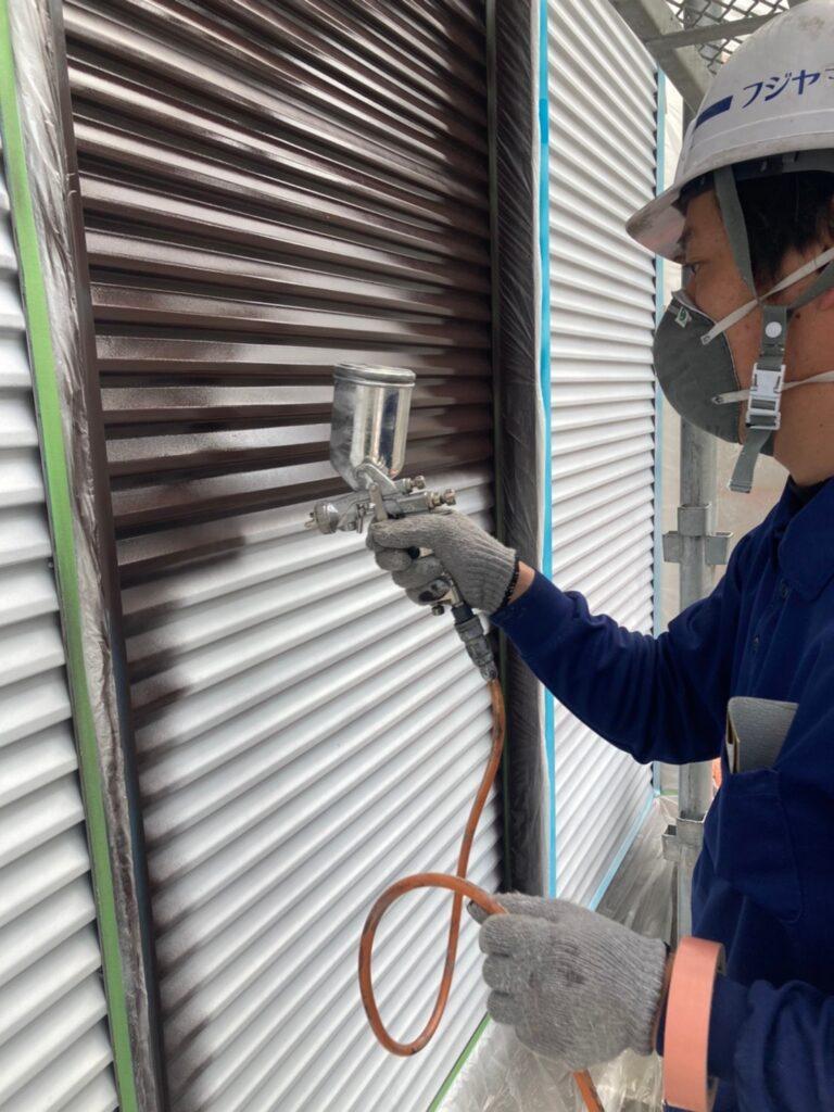 福岡市 付帯塗装 基礎巾木塗装 写真4