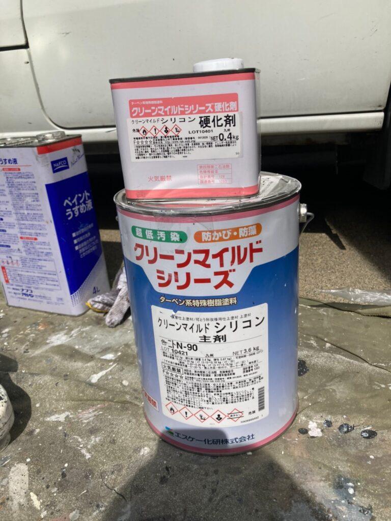 クリーンマイルドシリコン:福岡市 付帯塗装 ベランダ防水塗装 写真1