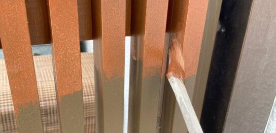 福岡市 木製扉塗装と防犯カメラ取り付けを終え完工