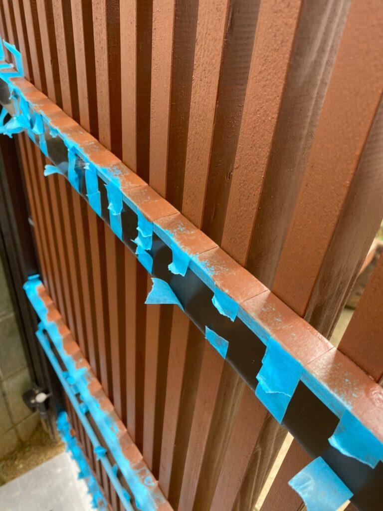 福岡市 木製扉塗装 防犯カメラ取り付け など 写真4