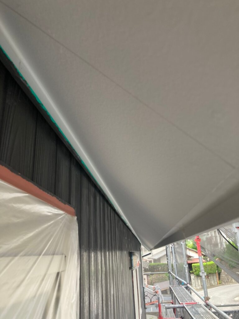 那珂川市 外壁下塗りと軒天塗装 写真11