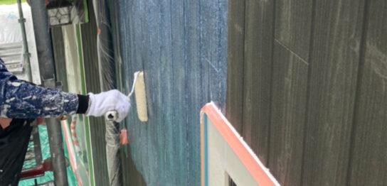 那珂川市 外壁下塗りと軒天塗装