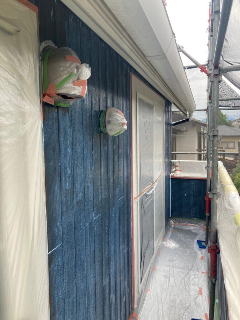 那珂川市 外壁下塗りと軒天塗装 写真4