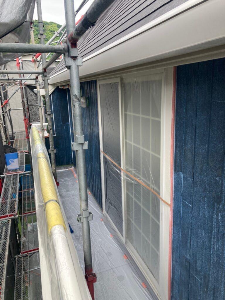那珂川市 外壁下塗りと軒天塗装 写真5