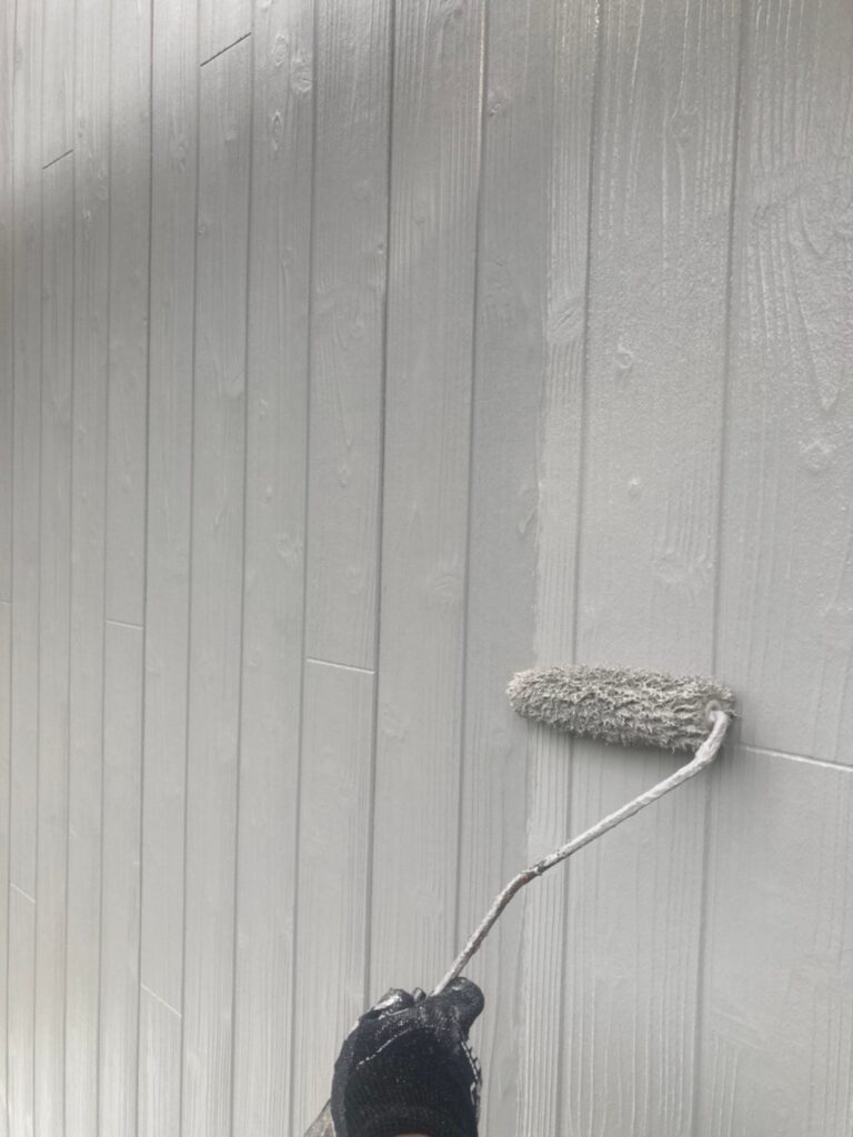 那珂川市 外壁の上塗り 写真2