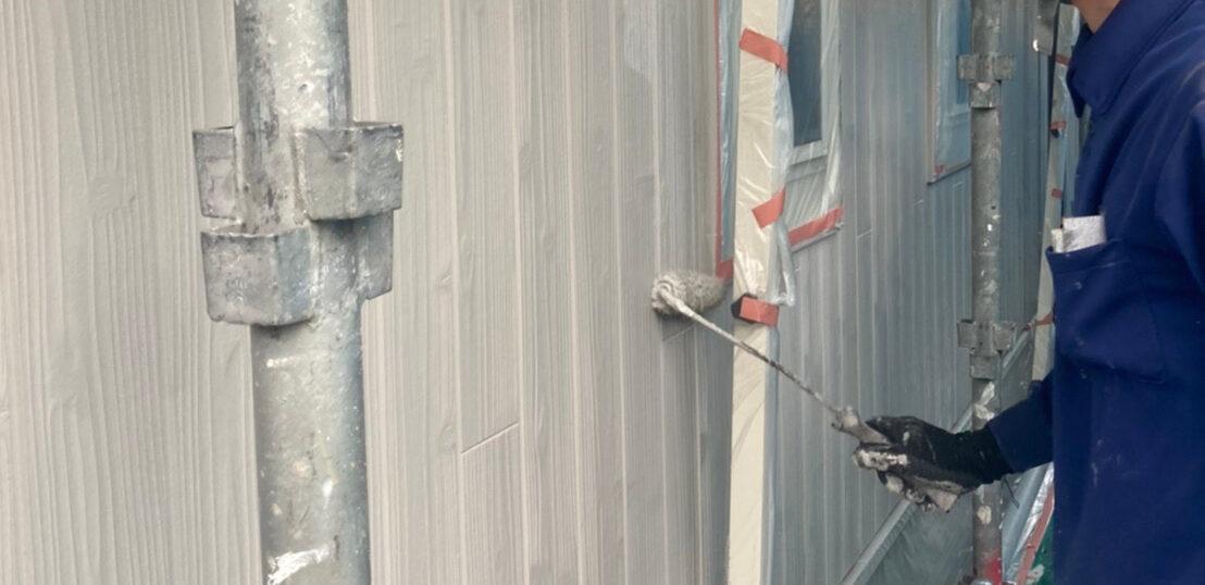那珂川市 外壁の上塗り