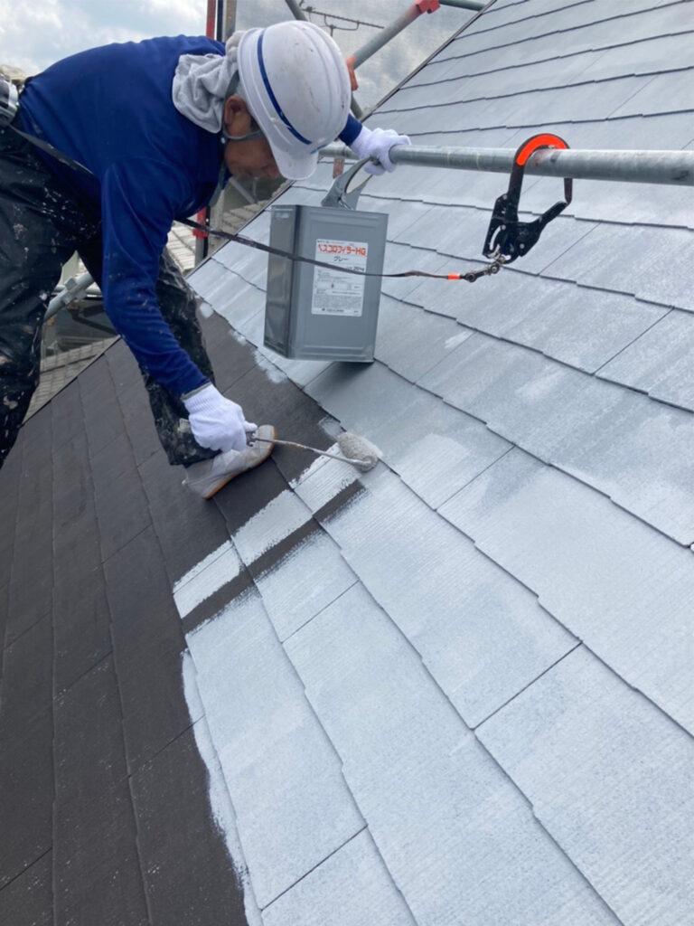 那珂川市 屋根の下塗り 写真2