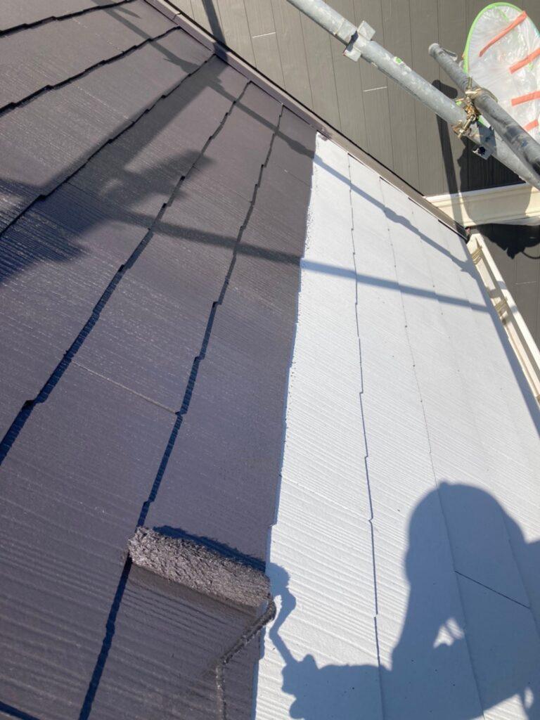 那珂川市 屋根の中塗り 写真2
