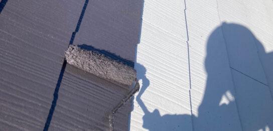 那珂川市 屋根の中塗り
