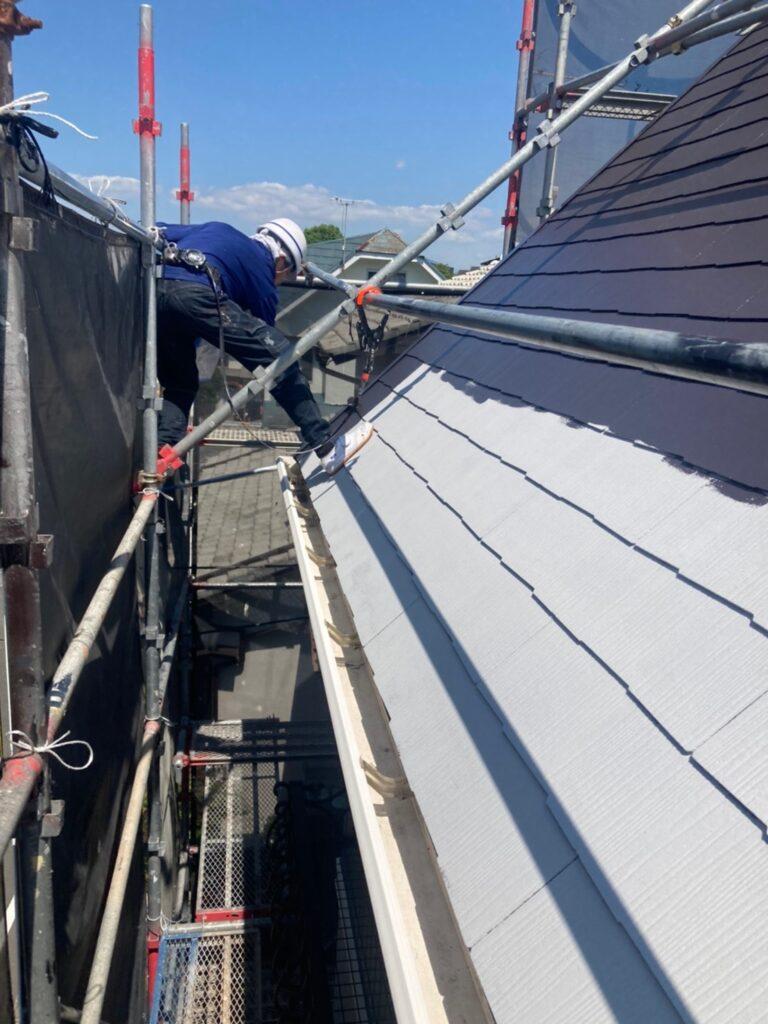 那珂川市 屋根の中塗り 写真3