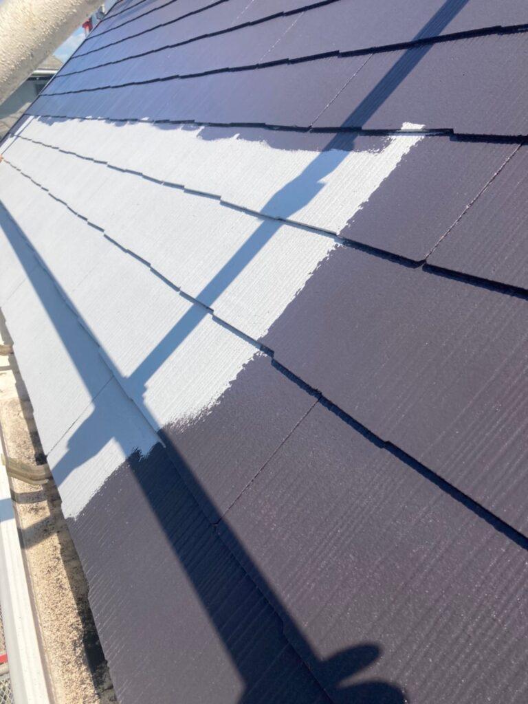 那珂川市 屋根の中塗り 写真4