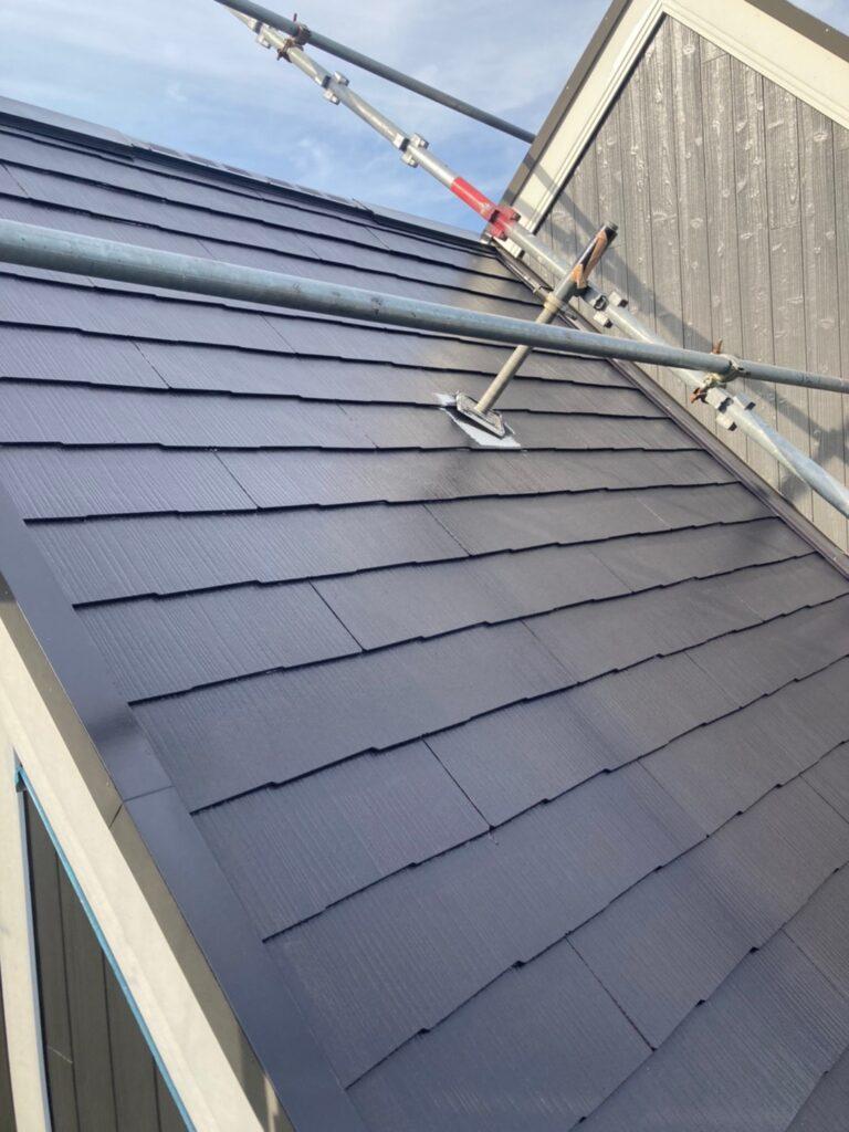 那珂川市 屋根の中塗り 写真5