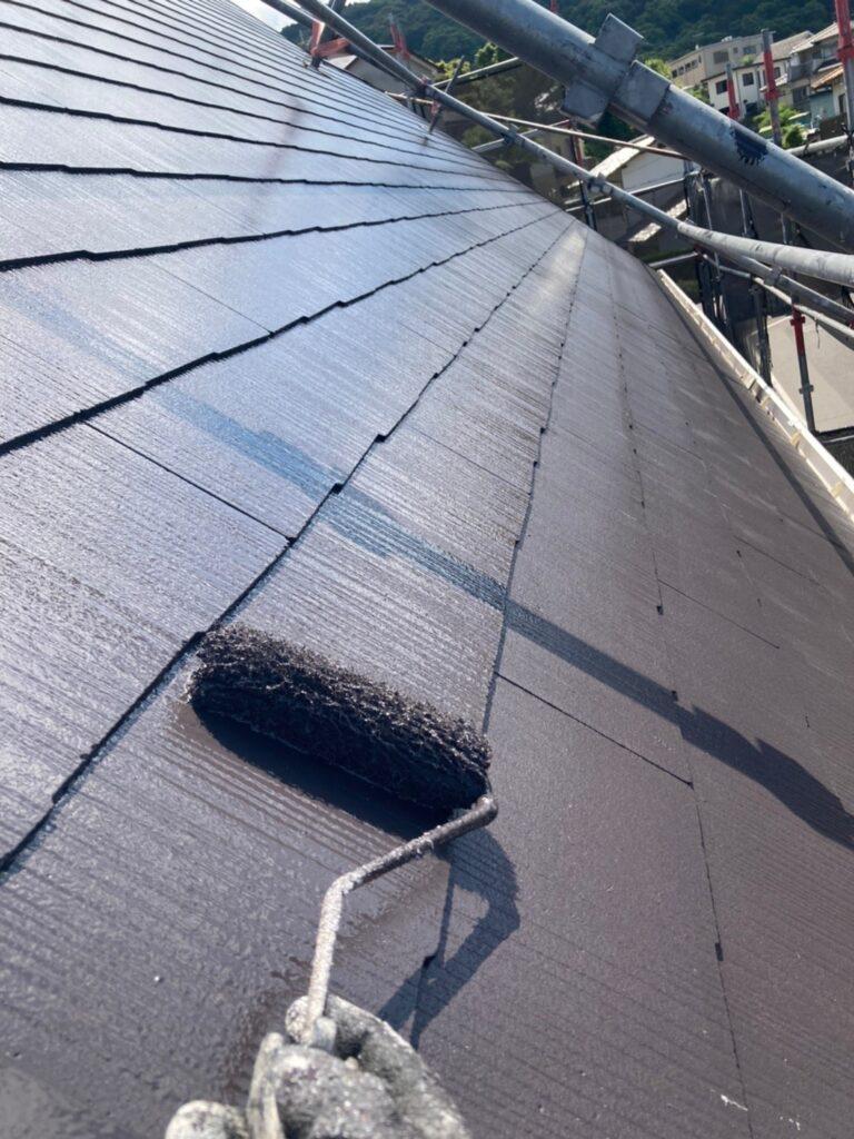 那珂川市 屋根の上塗り 写真2