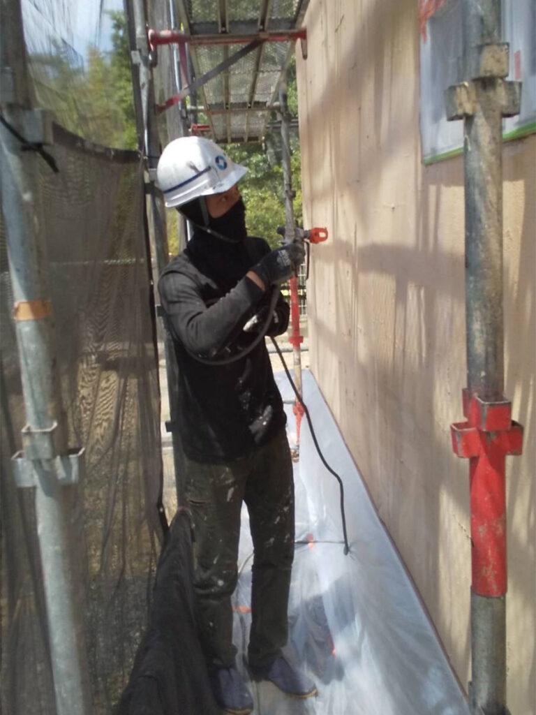 飯塚市 外壁塗装 下塗り1回目 写真6