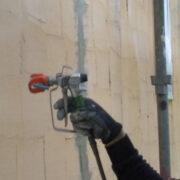 飯塚市 外壁の下塗り1回目