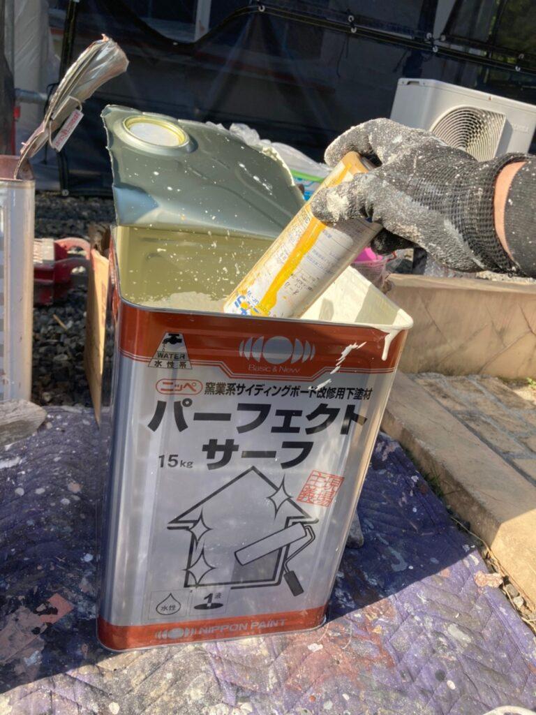 パーフェクトサーフ:飯塚市 外壁塗装 下塗り2回目 写真2