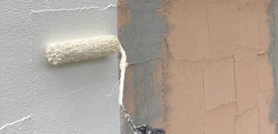 飯塚市 外壁の下塗り2回目