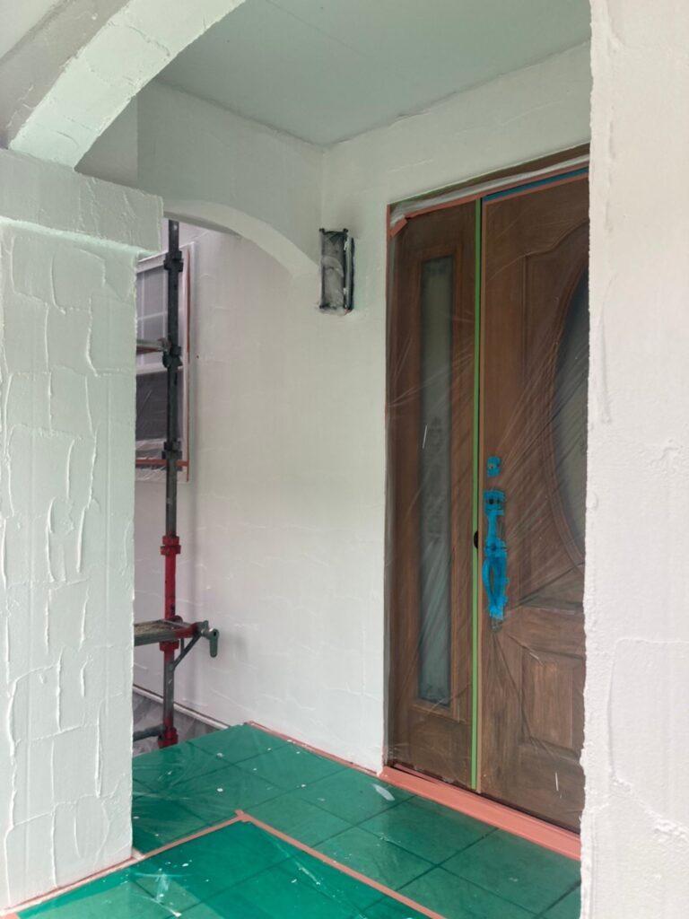 飯塚市 外壁塗装 下塗り3回目 写真11