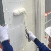 飯塚市 外壁の下塗り3回目