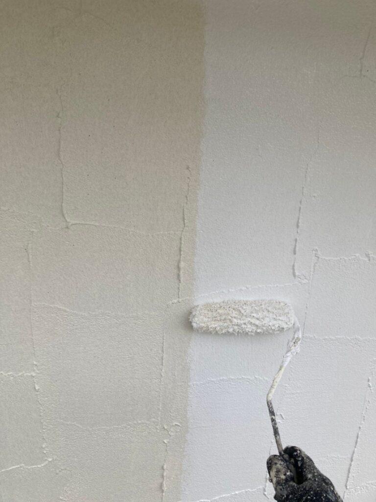 飯塚市 外壁塗装 下塗り3回目 写真4