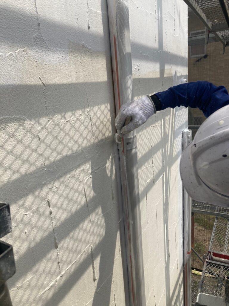 飯塚市 外壁塗装 下塗り3回目 写真5