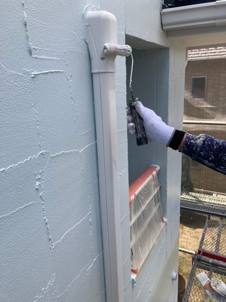 飯塚市 外壁塗装(上塗り) 付帯塗装 写真15