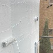飯塚市 外壁上塗りと付帯塗装