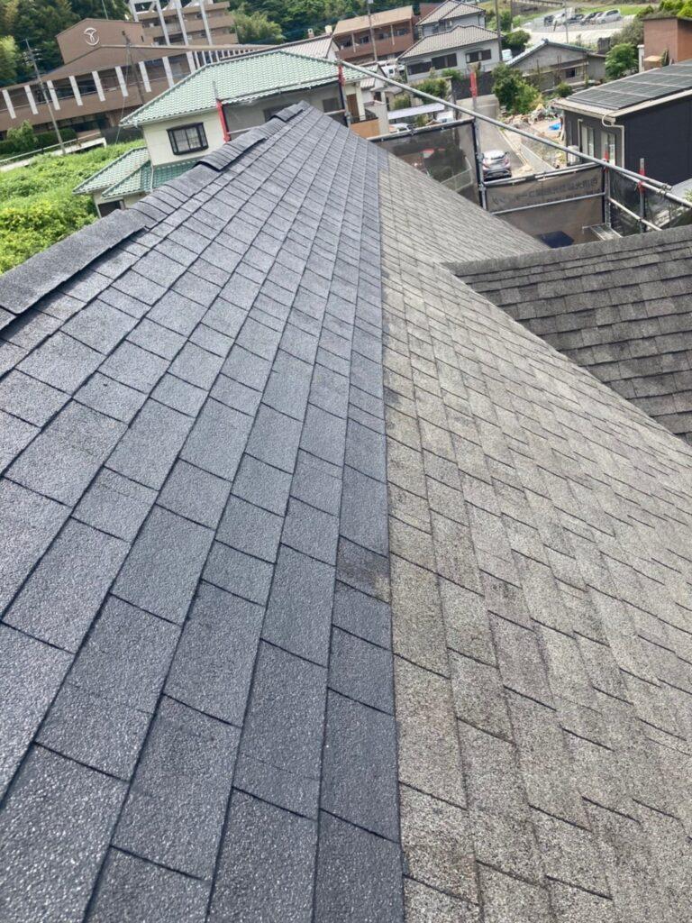 飯塚市 付帯塗装続き 屋根塗装(下塗り) 写真11
