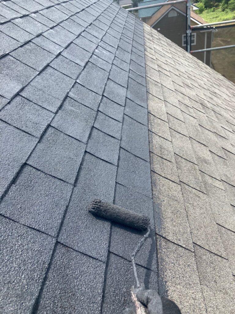飯塚市 付帯塗装続き 屋根塗装(下塗り) 写真12