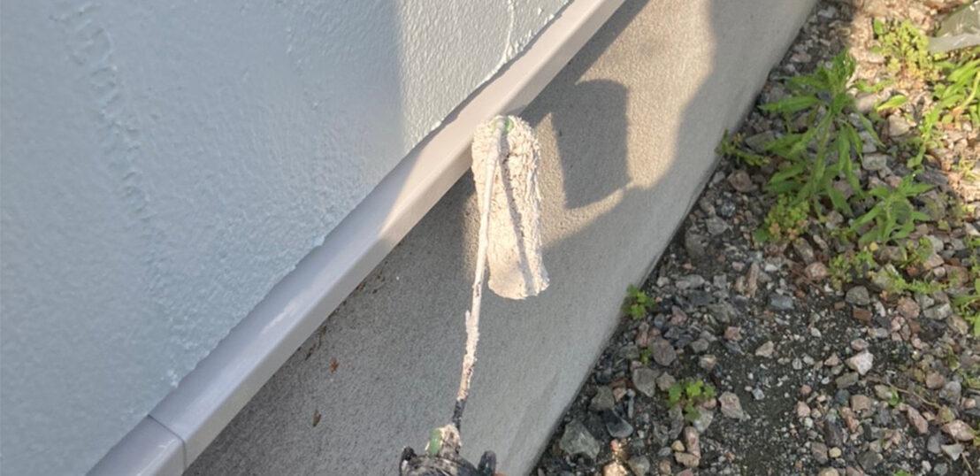 飯塚市 付帯塗装(続き)と屋根下塗り