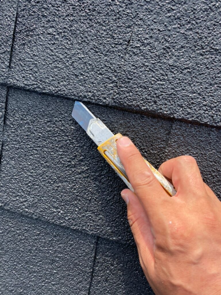 飯塚市 屋根塗装 中塗り・縁切り・上塗り 写真6