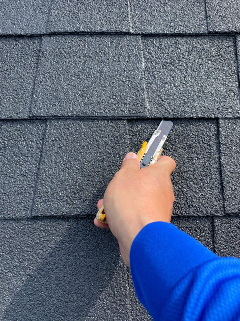 飯塚市 屋根塗装 中塗り・縁切り・上塗り 写真7