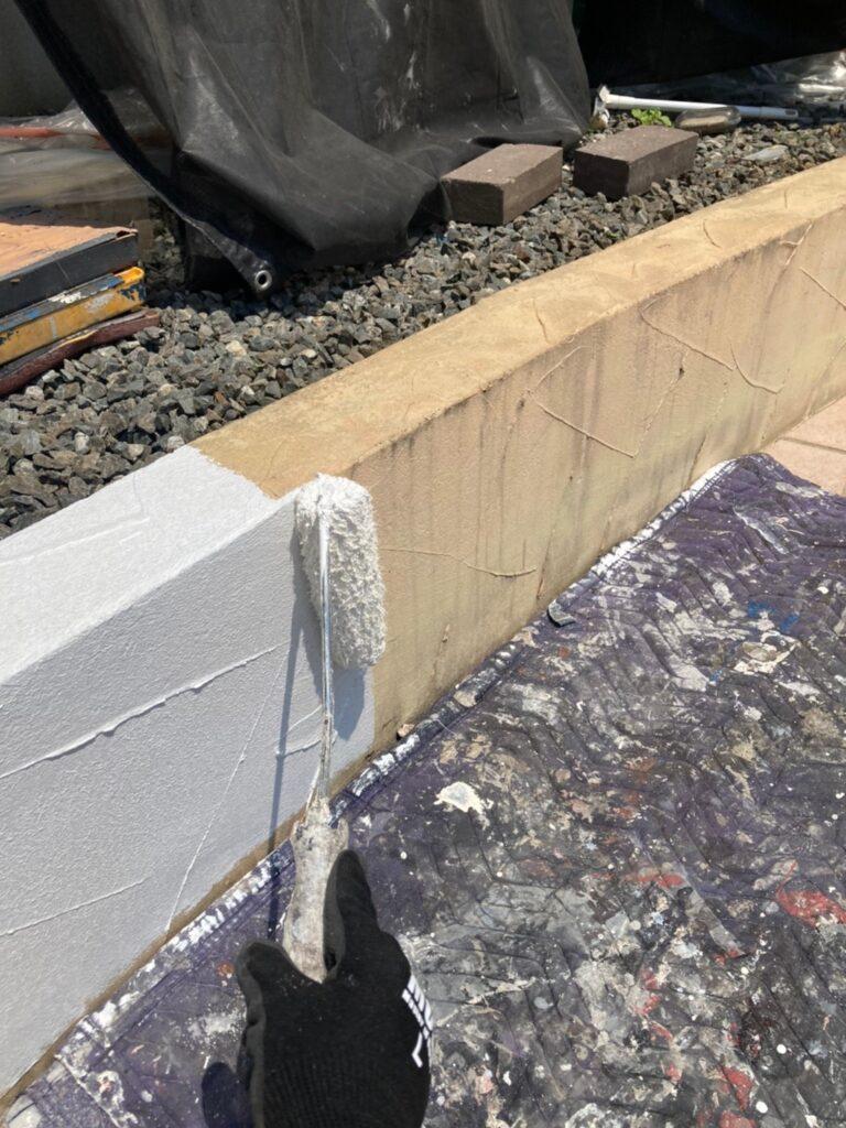 飯塚市 ベランダ防水塗装と腰壁塗装 写真11