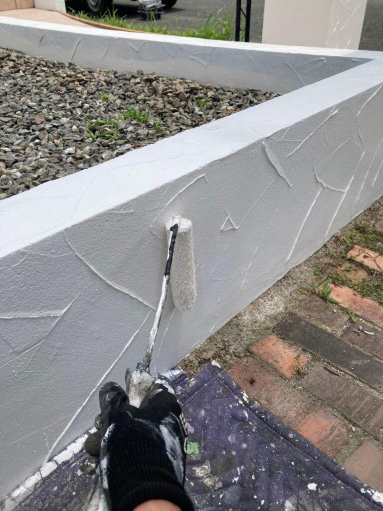 飯塚市 ベランダ防水塗装と腰壁塗装 写真15