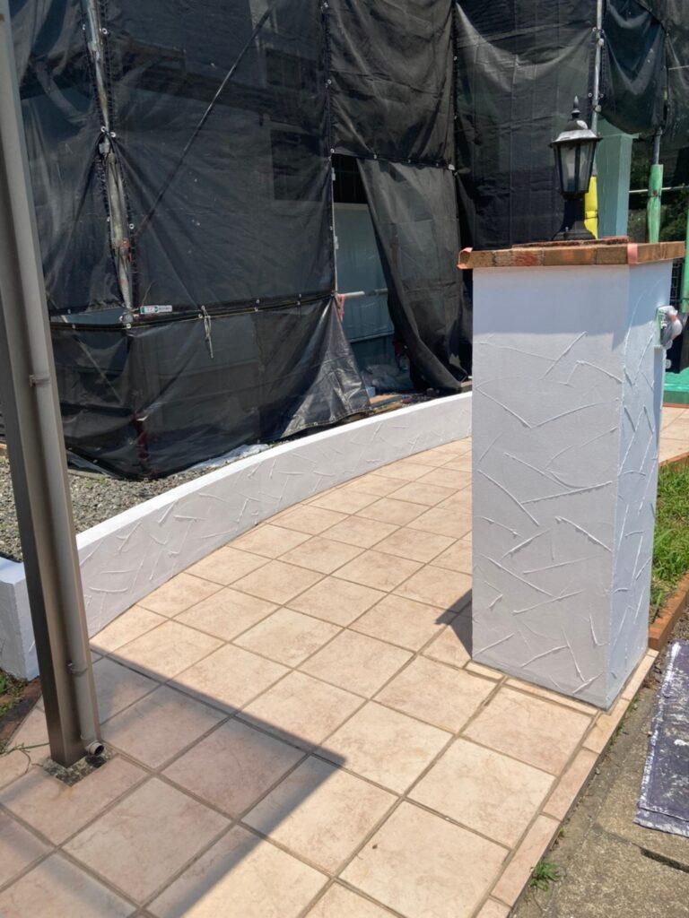 飯塚市 ベランダ防水塗装と腰壁塗装 写真18
