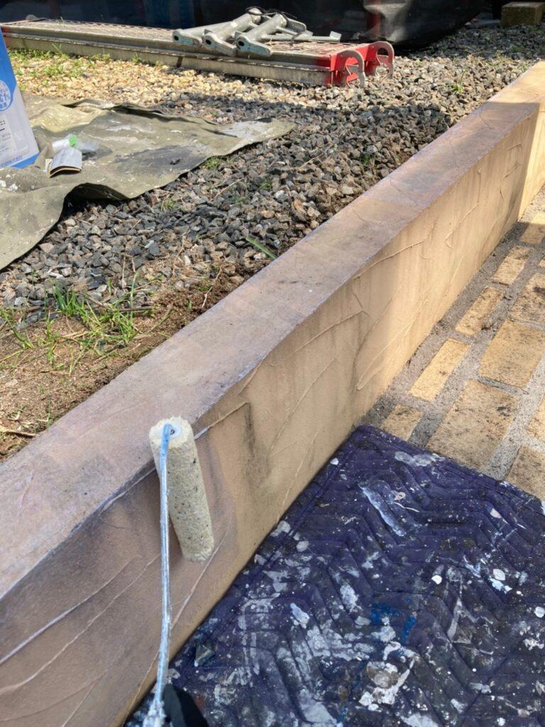 飯塚市 ベランダ防水塗装と腰壁塗装 写真9