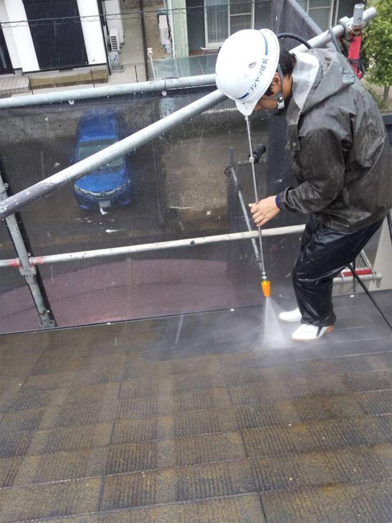 福岡市東区 高圧洗浄 写真2